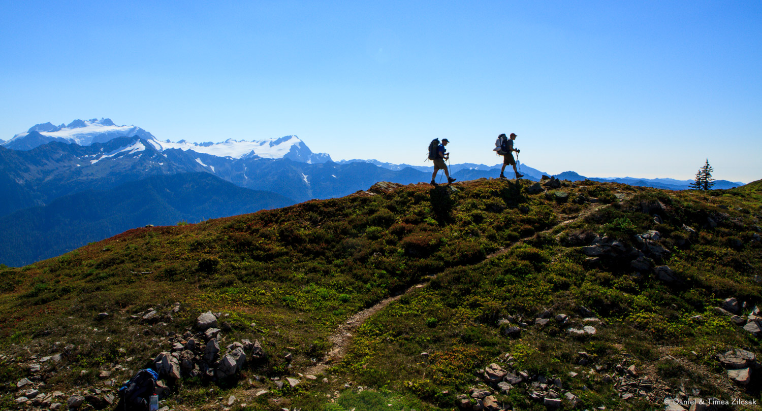 Backpacking the High Divide Loop with Mount Olympus behind
