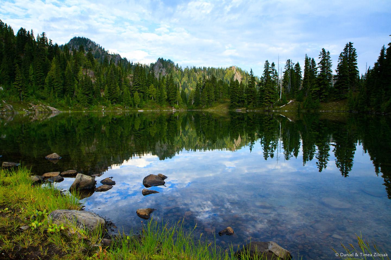 Early morning at Clear Lake, Seven Lakes Basin, Olympic National Park