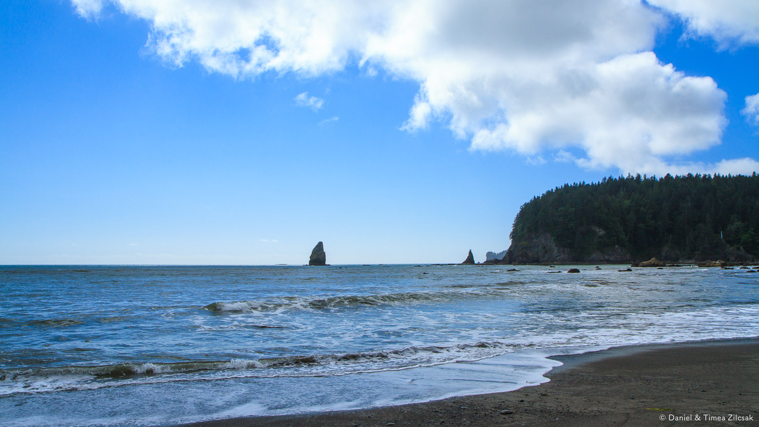Looking back towards Taylor Point from Scott's Bluff, South Coast Wilderness Trail, WA