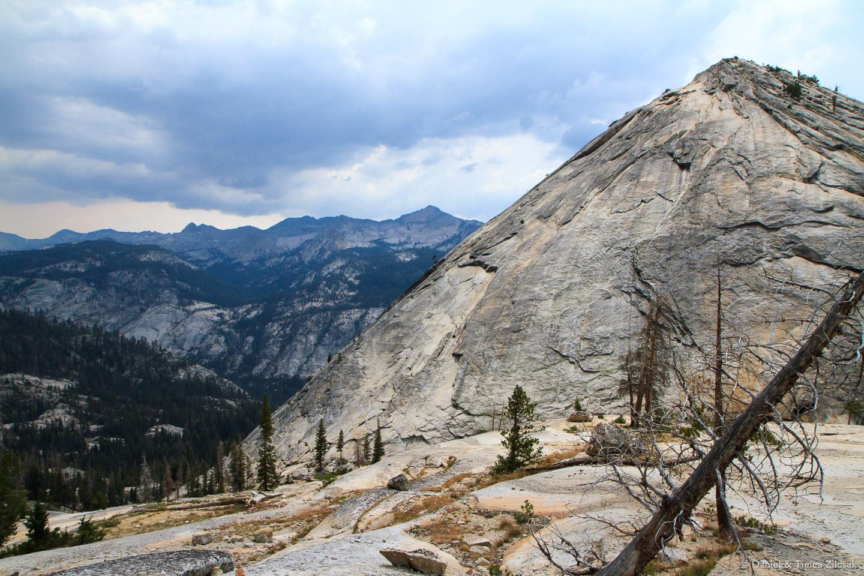Majestic granite cliffs descending into Merced Lake - Backpacking Yosemite