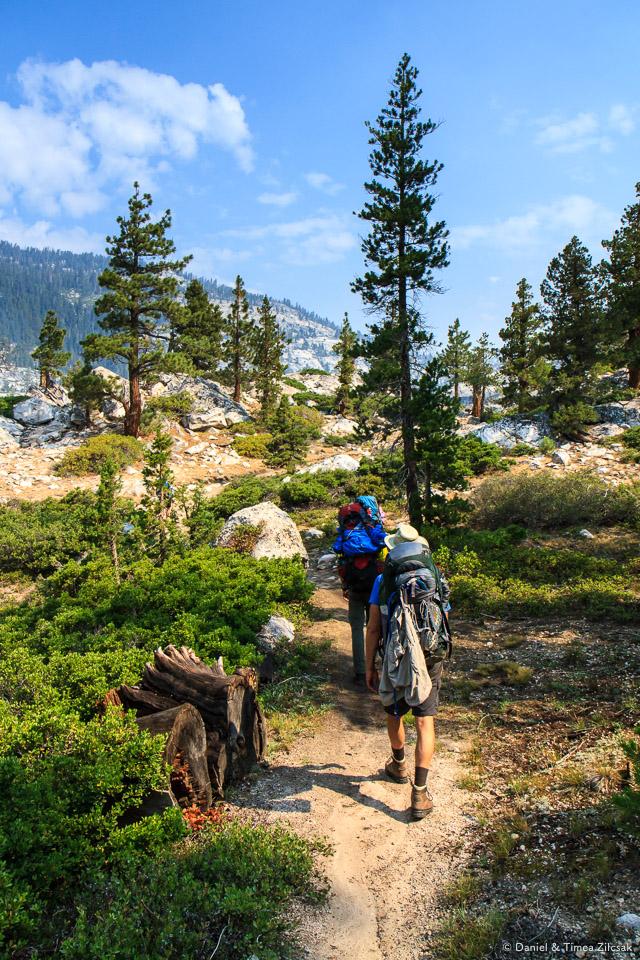 Hiking up towards Sunrise, Yosemite National Park
