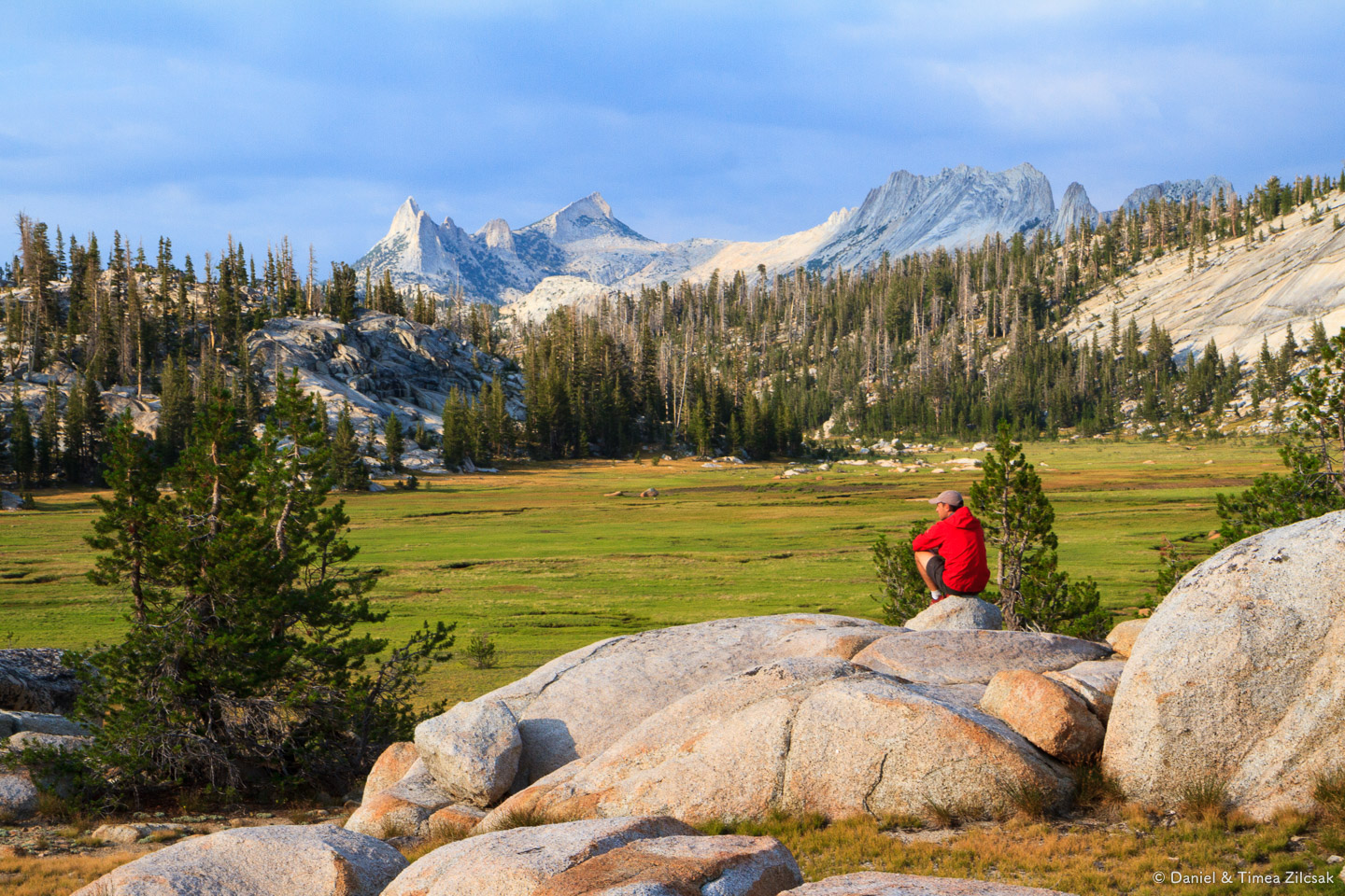 Cathedral Range from Sunrise meadows, Yosemite National Park
