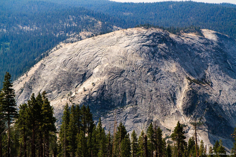 Monolithic mountain of granite in Yosemite National Park