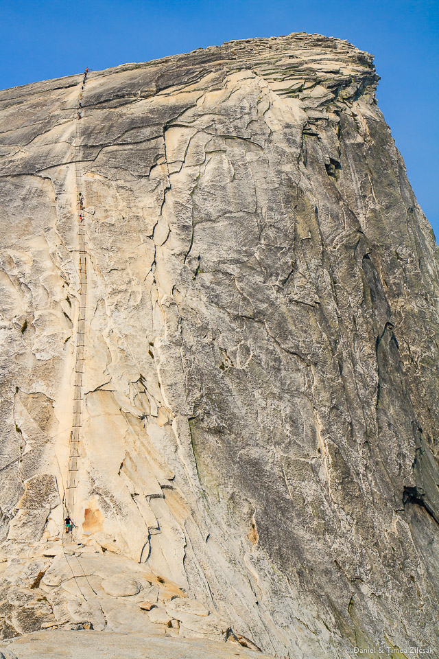 The famous Half Dome cable route