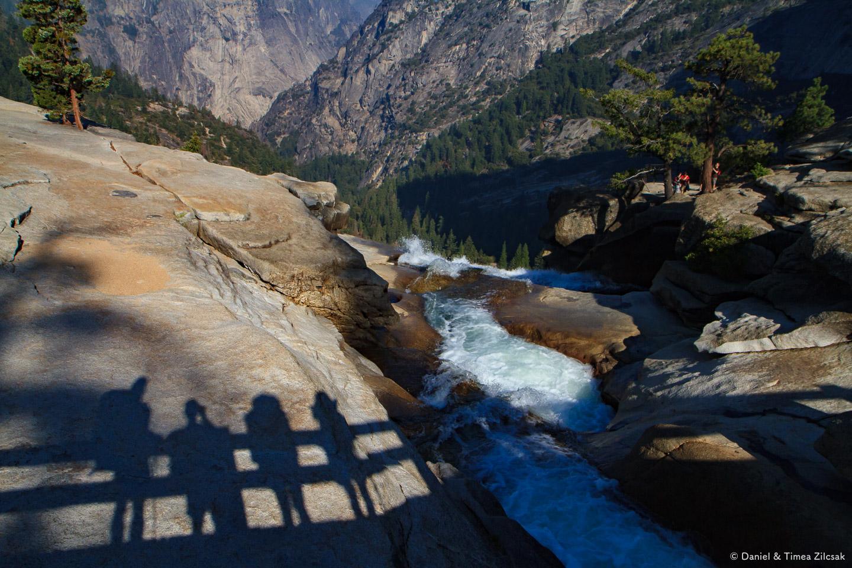Joe, myself, Ana and Timea - at the top of Nevada Fall, Backpacking Yosemite National Park