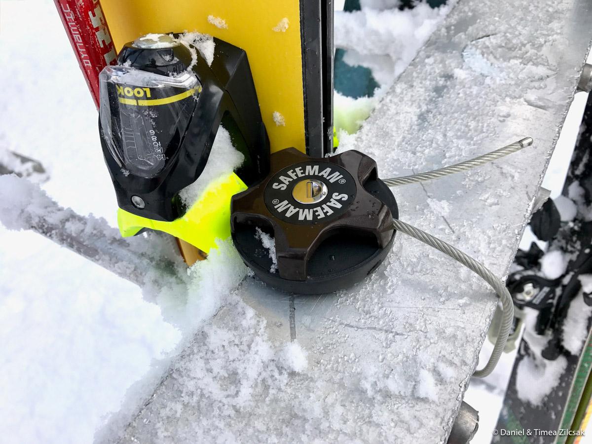 My new Safeman lock at Mount Baker ski resort