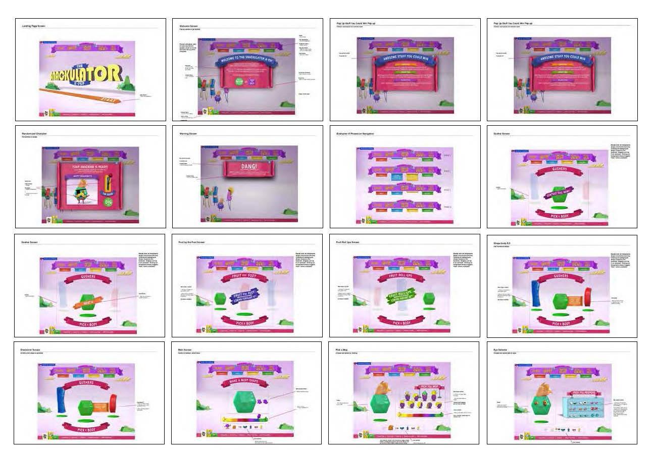 redlines of screens