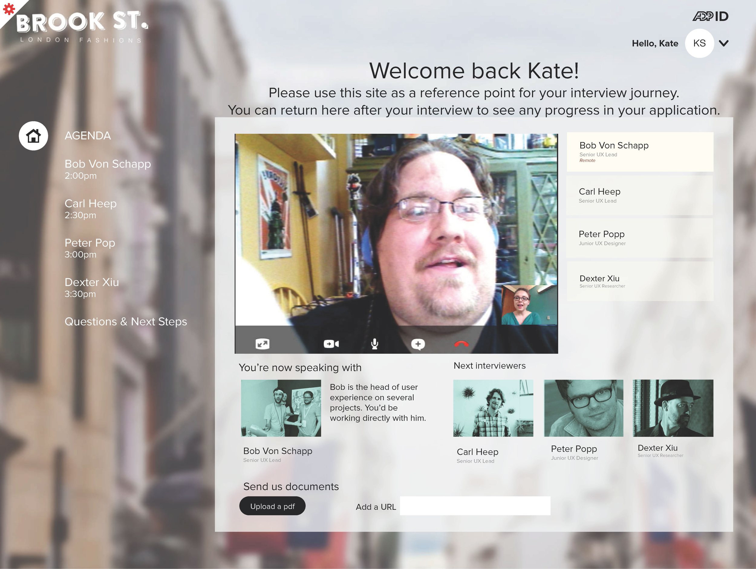 interviewer and prospective employee meet online