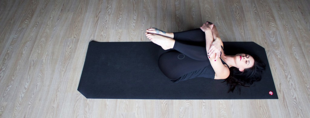 Knees to Chest Pose   Begin lying on your back. Bring both knees in, toward your chest. Try to wrap your arms around them and grasp both hands. If you are not feeling as much sensation, try grabbing the elbows. Hold here for 30 seconds.