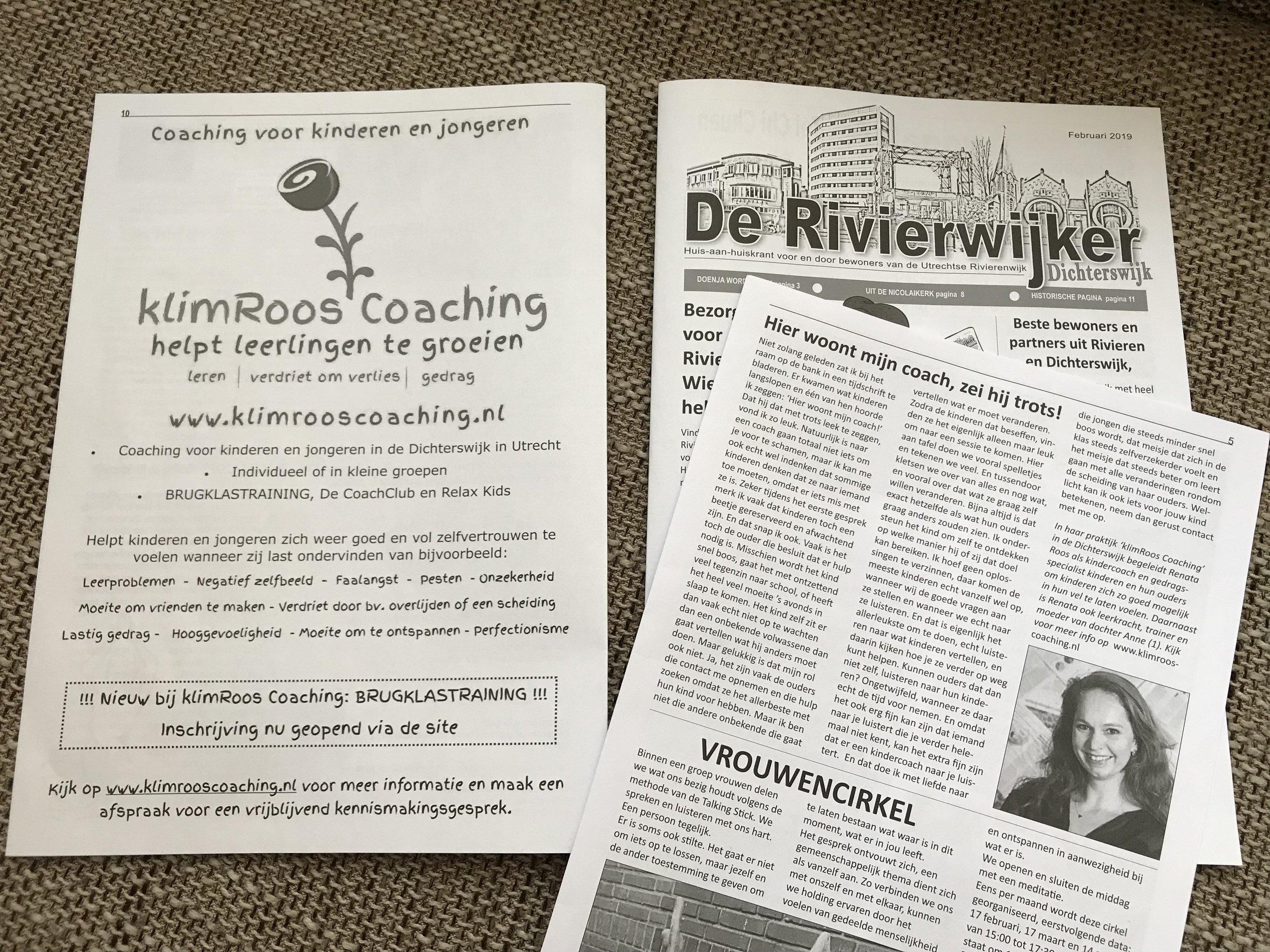 Onderstaande column is in februari 2019 verschenen in De Rivierwijker, de wijkkrant voor de Rivierenbuurt en de Dichterswijk.