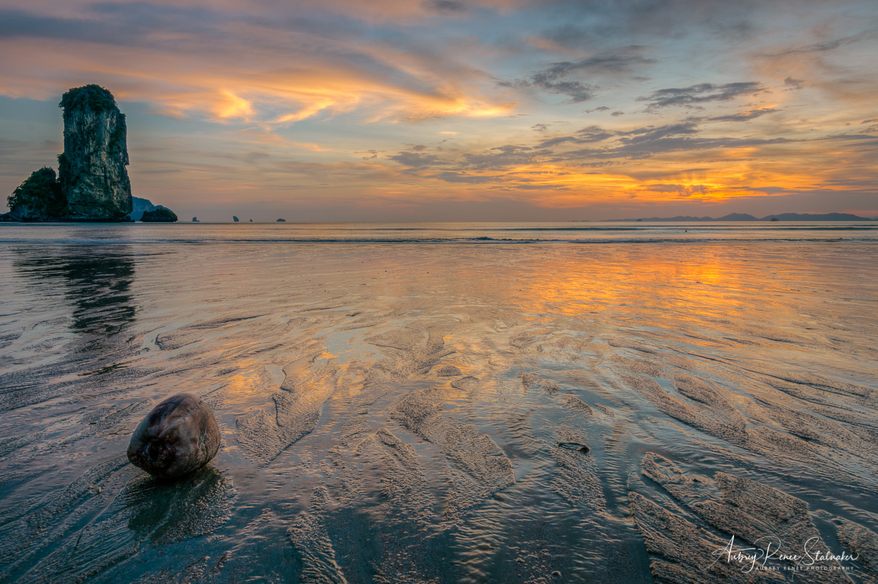 Sunset over Low Tide in Krabi, Thailand