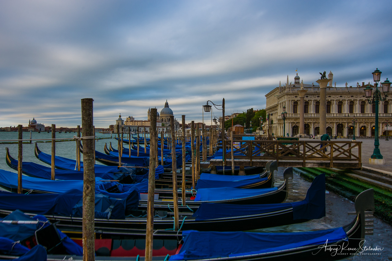 Gondolas at the Piazza San Marco in Venice, Italy