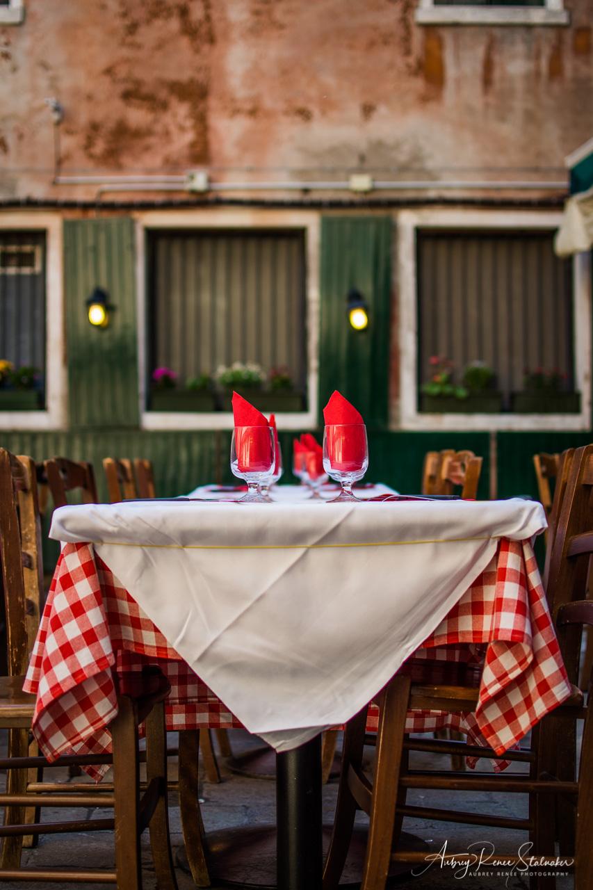 Venice Restaurant at Golden Hour