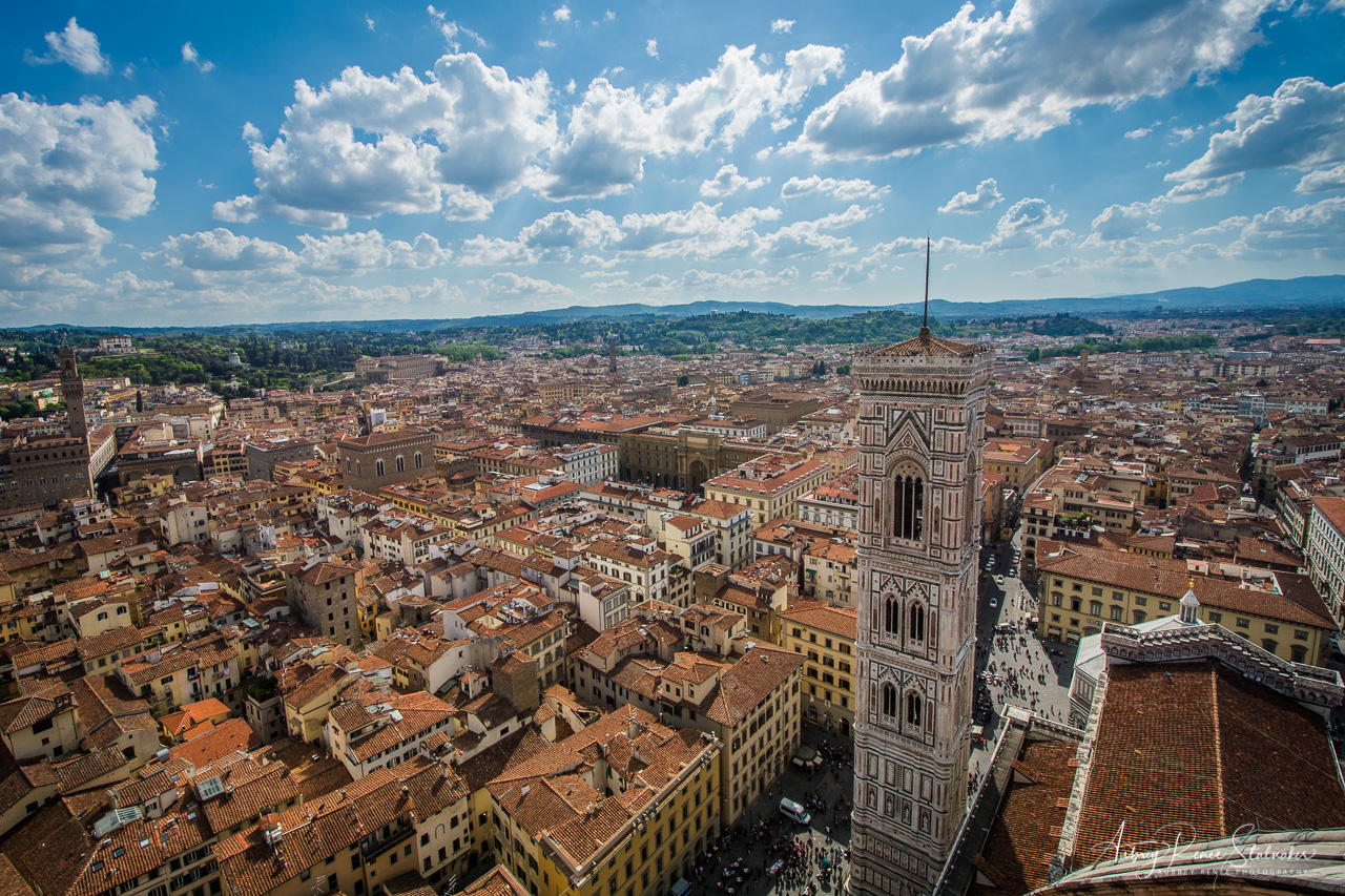 View from the top of the Duomo in Florence, Italy