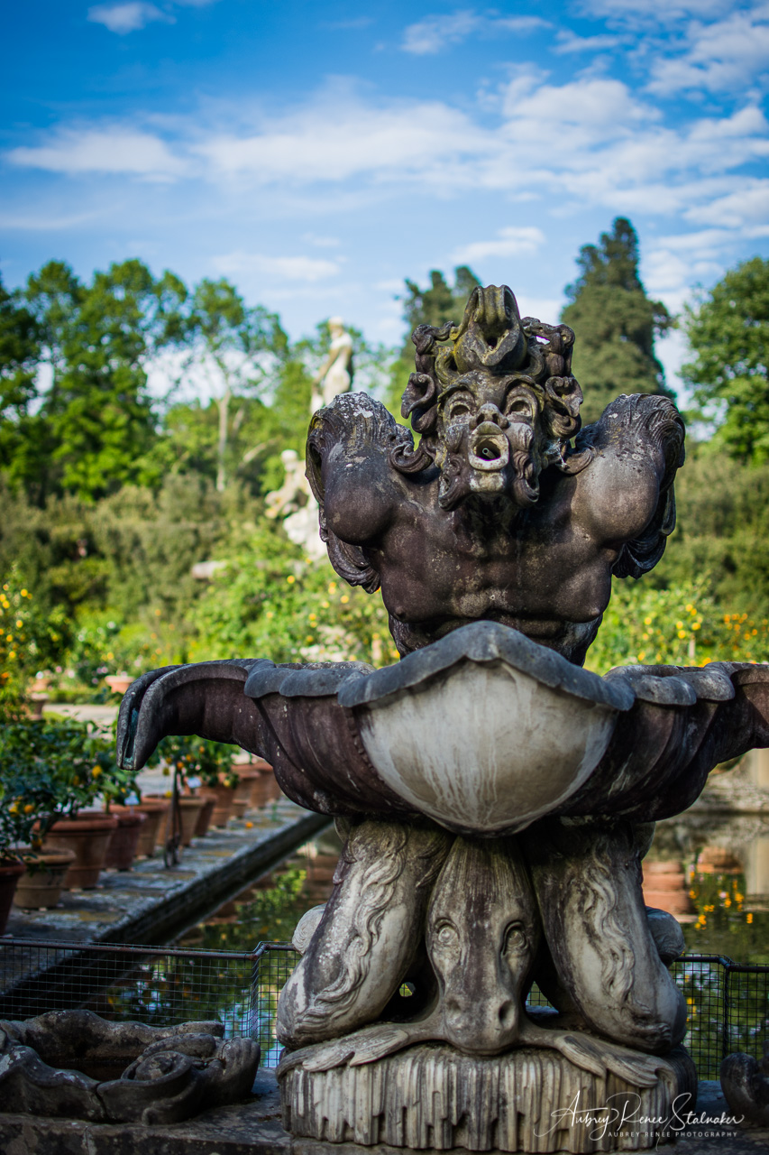 Fountain in the Boboli Gardens of Florence, Italy