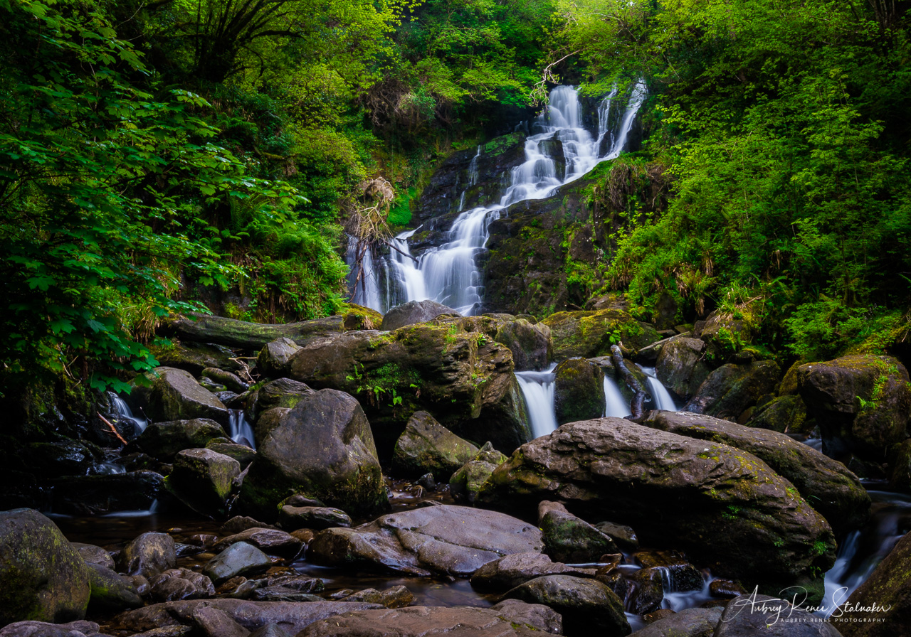 Torc Waterfall along the Ring of Kerry in Ireland
