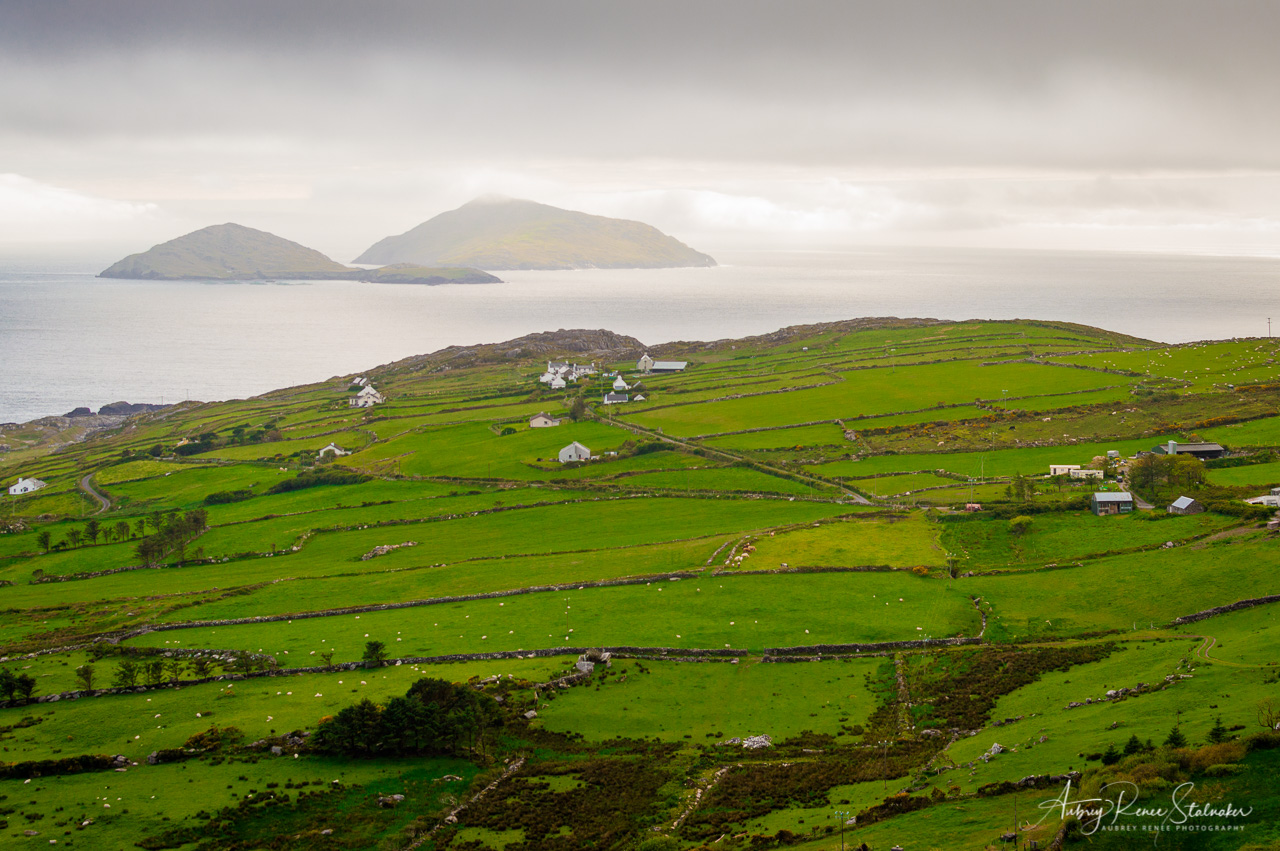 View from the Skellig Ring in County Kerry, Ireland