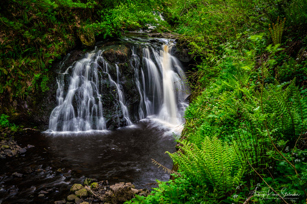Waterfall in Glenariff Forest Park, Northern Ireland