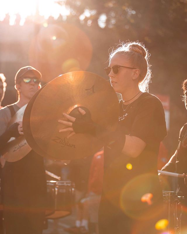 The lighting last weekend at the @ugadrumline show was beautiful. Photographers/videographers- any ideas on what caused all these sun flares, lens flares & rainbows?