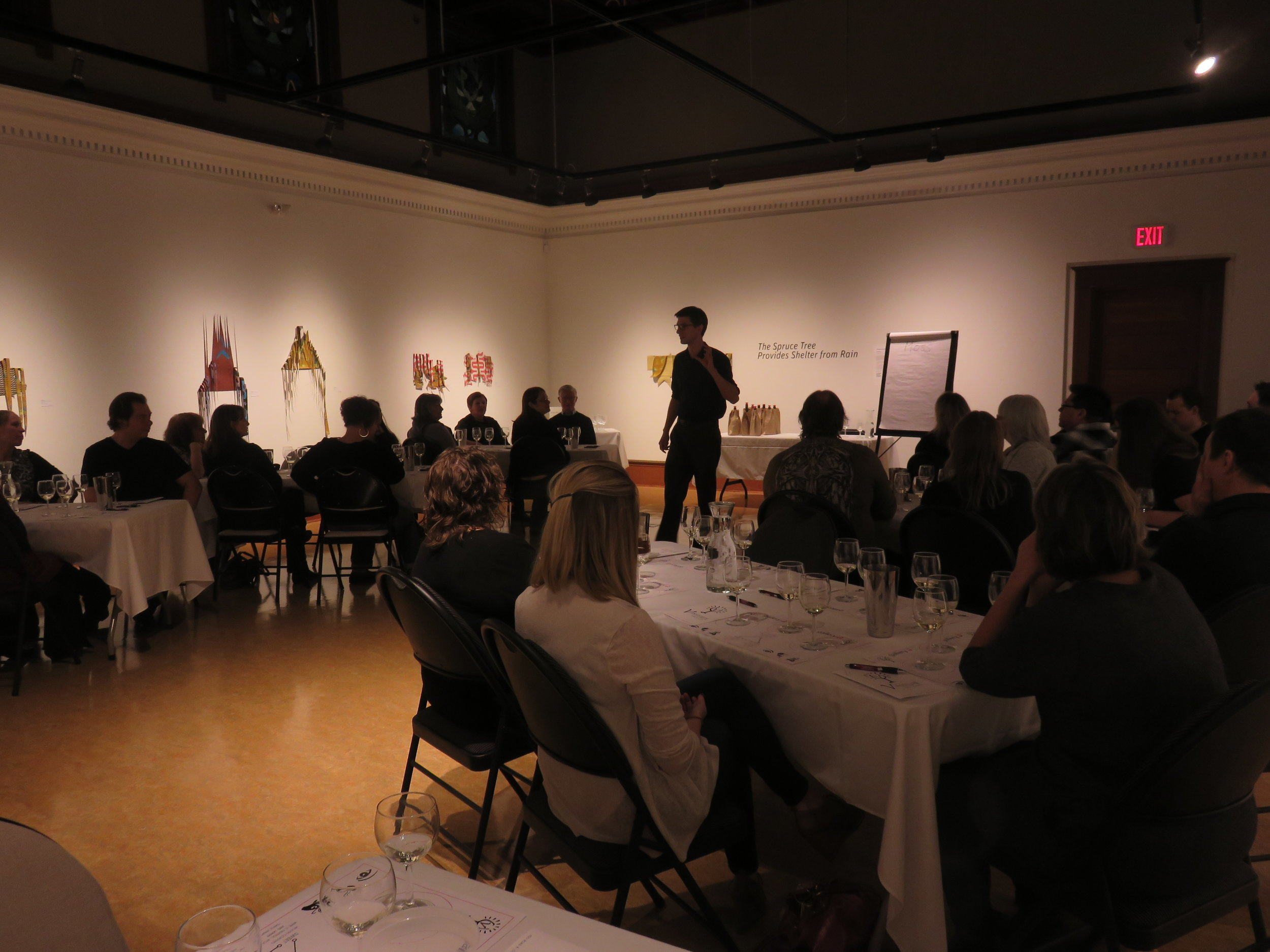 "Nov 2017 - ""Wineology 101"" at the Grand Forks Gallery 2 Art & Heritage Centre"