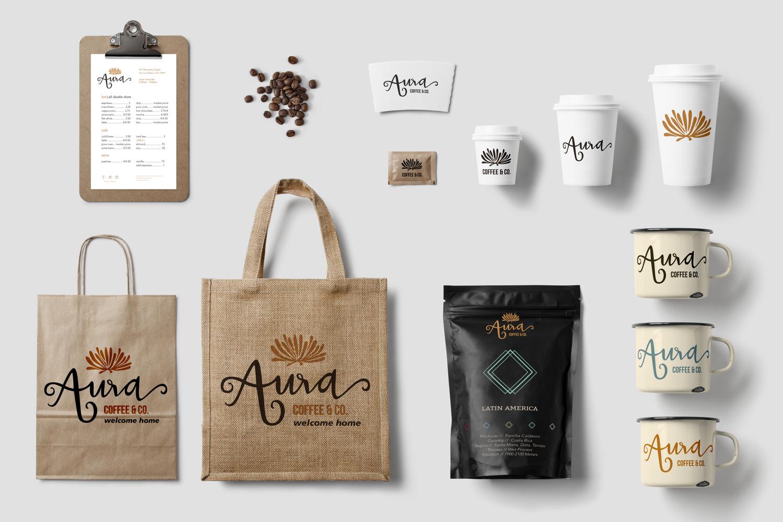 Aura Coffee Co Branding Rachel Salina Martin