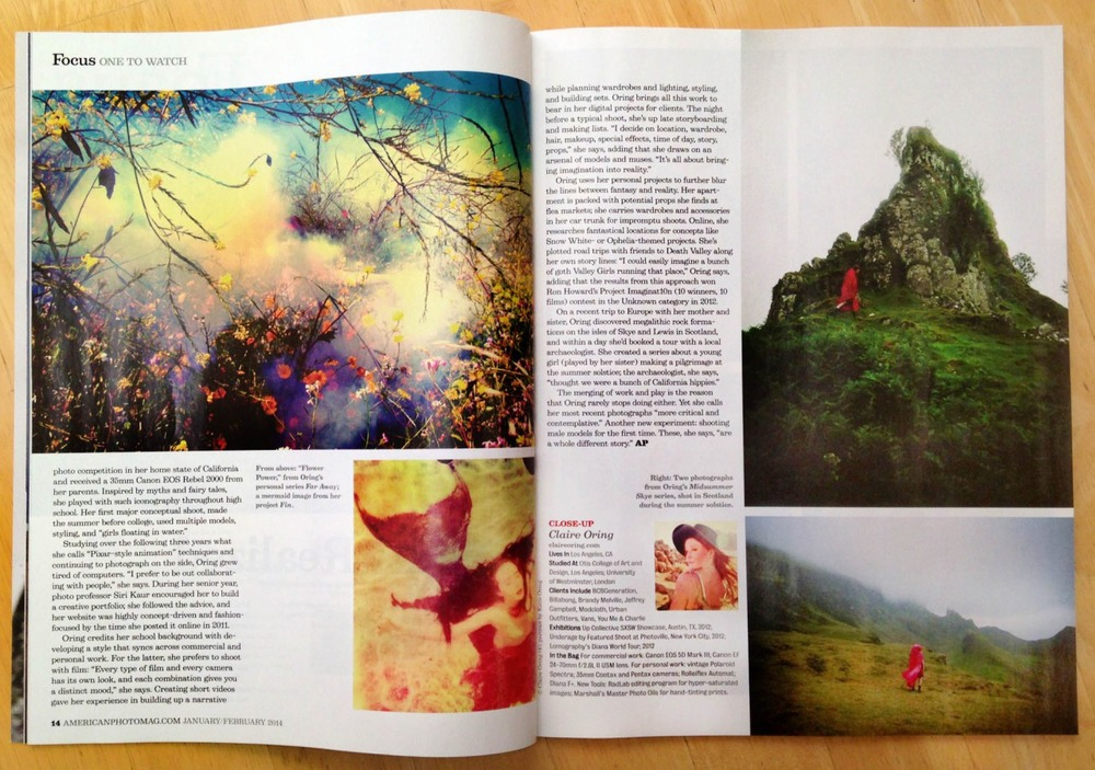 American Photo Magazine. Click here to read the article.