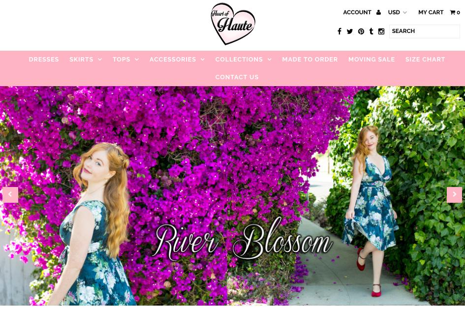 Website cover Heart of Haute