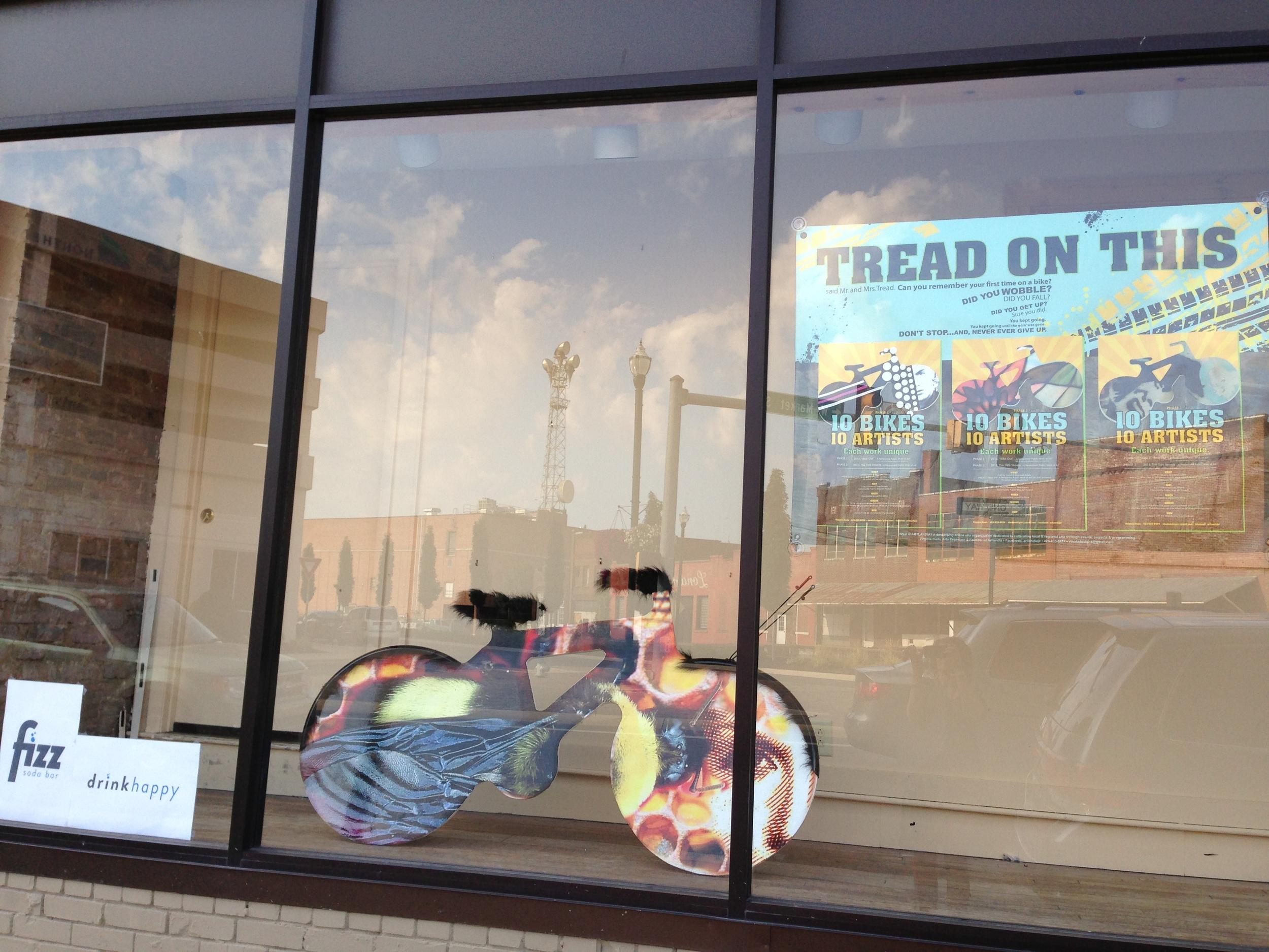 bee bike with bike banner.JPG