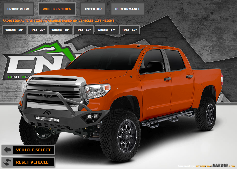 Customize Your Vehicle In Our CNX Garage!