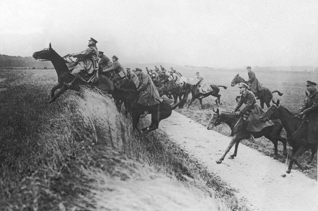 An actual World War I cavalry charge that actually took place in the twentieth century (!!!), because apparently That Sort of Thing happened fairly recently.