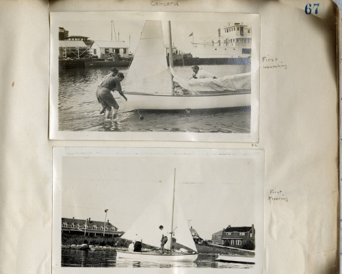 Hannah Croasdale's Woods Hole Photo Album. Hannah Croasdale manuscript collection.