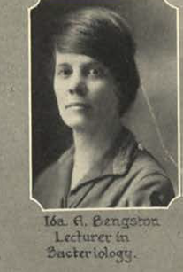 Dr. Ida Bengtson in 1925. 1926  Rollamo  (MSM yearbook), p. 25. (Image out of copyright.