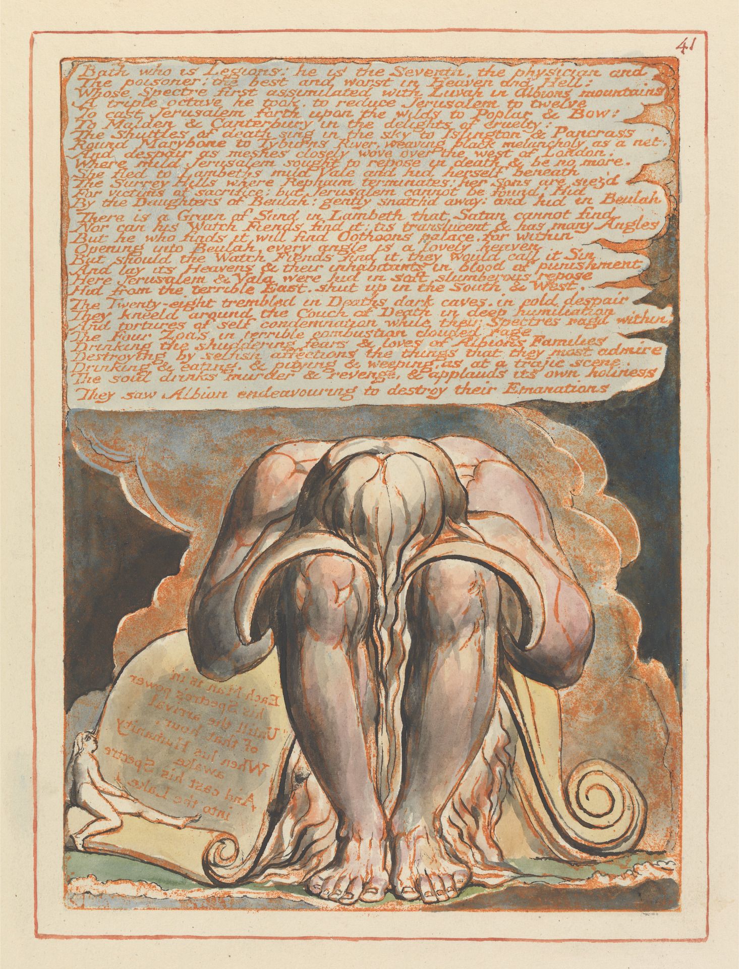 Plate 41. Relief etching print from Jerusalem, William Blake. (Published with permission from the Yale Center for British Art, Paul Mellon Collection)