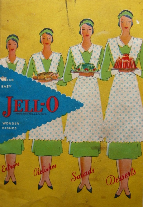 "Cover, ""Quick, Easy Jell-O Wonder Dishes: Entrees Relishes Salads Desserts,"" 1930 (Wikimedia Commons 