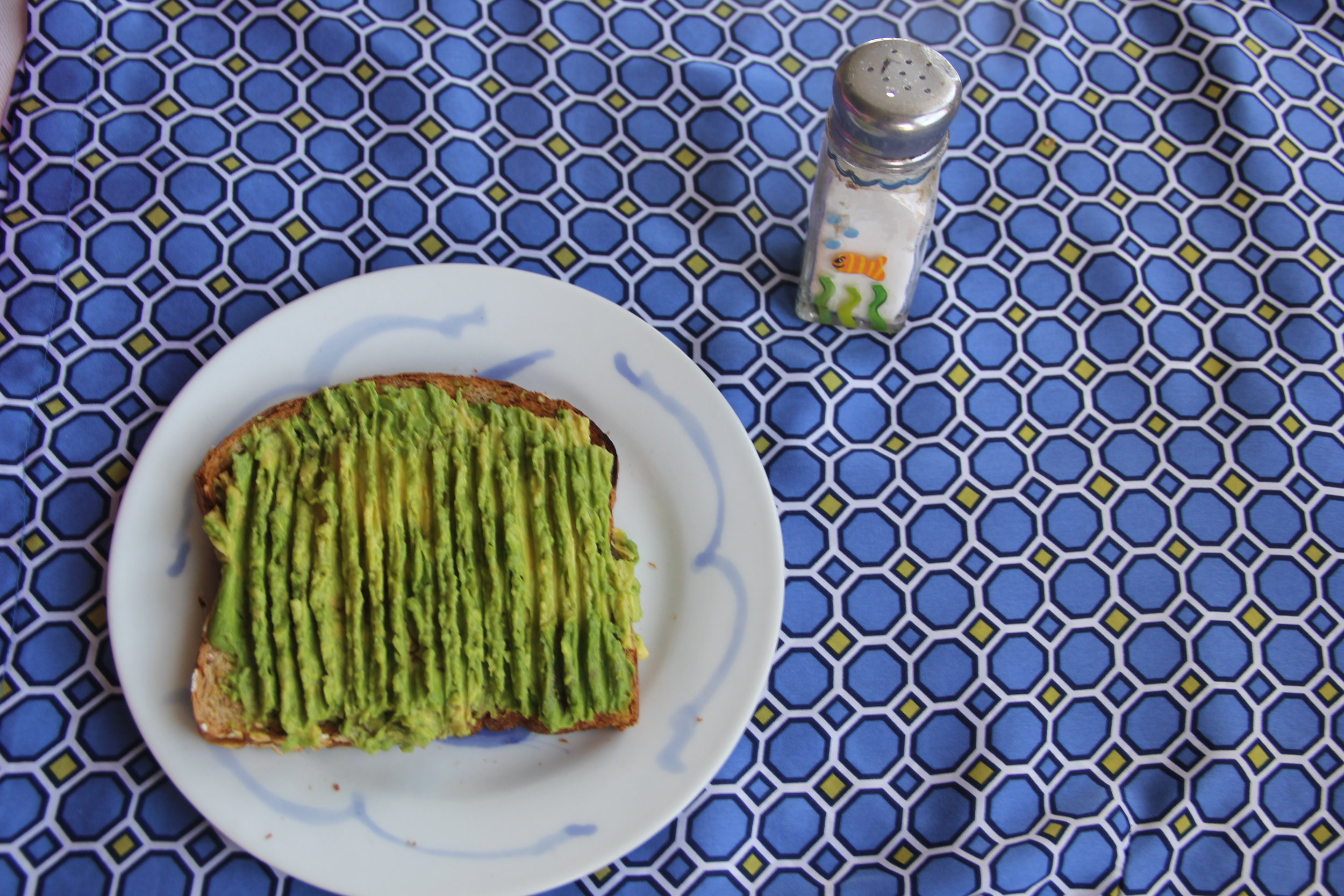 The minerals potassium, magnesium and calcium in the avocado offset the sodium content you are adding to make this avocado toast taste good.  I don't worry about sodium when it's added to a plant food like this, because those minerals actually have the ability to displace it.  Mind blown!
