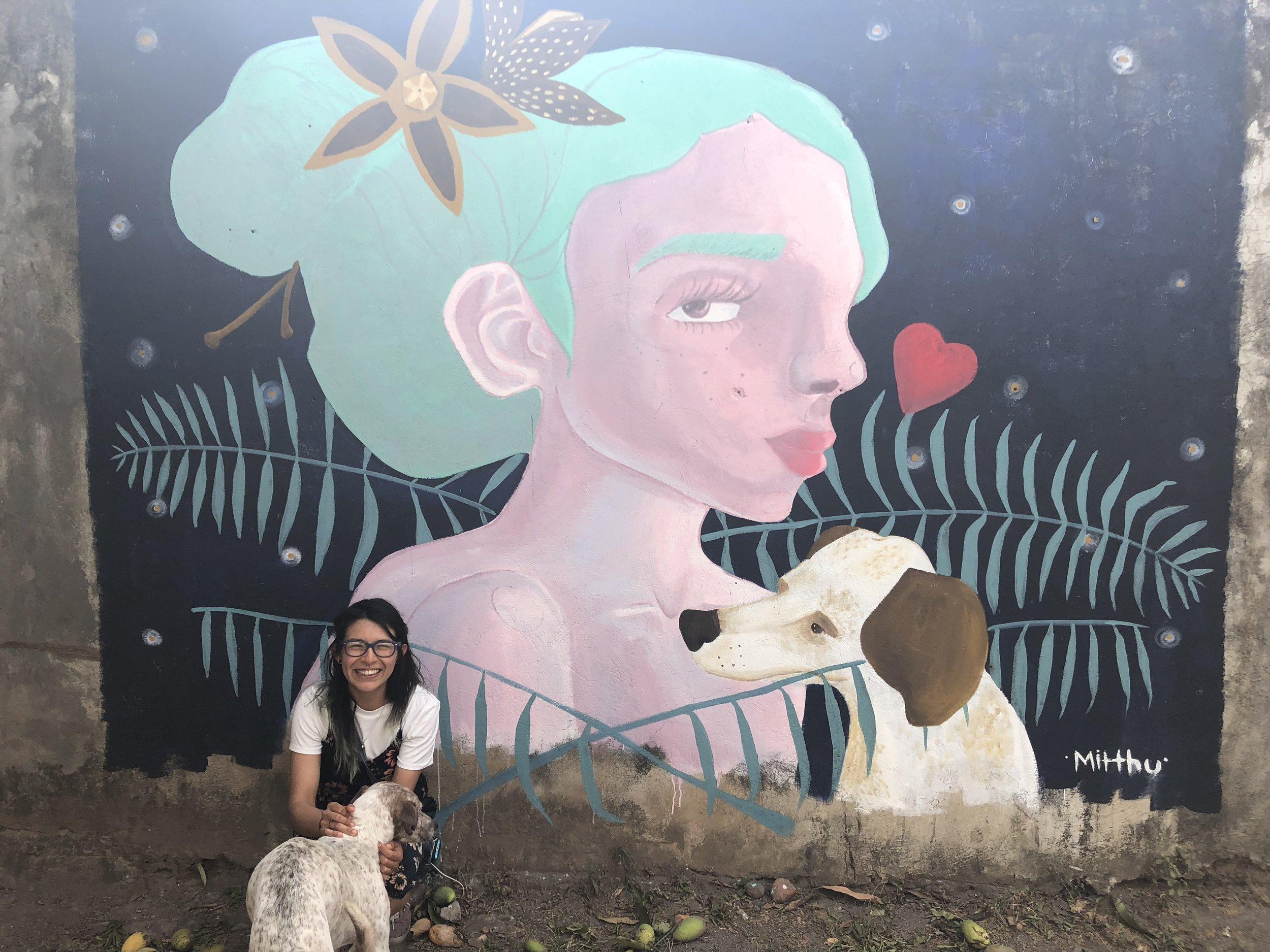 LAURA VELÁZQUEZ, LA NIÑA Y EL PERRO. ABRIL 2018