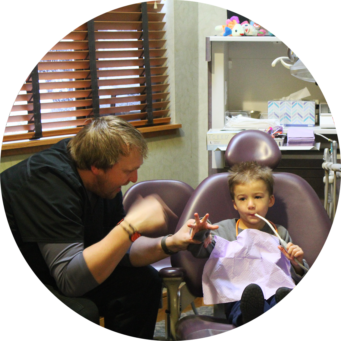 child with dr. heckert