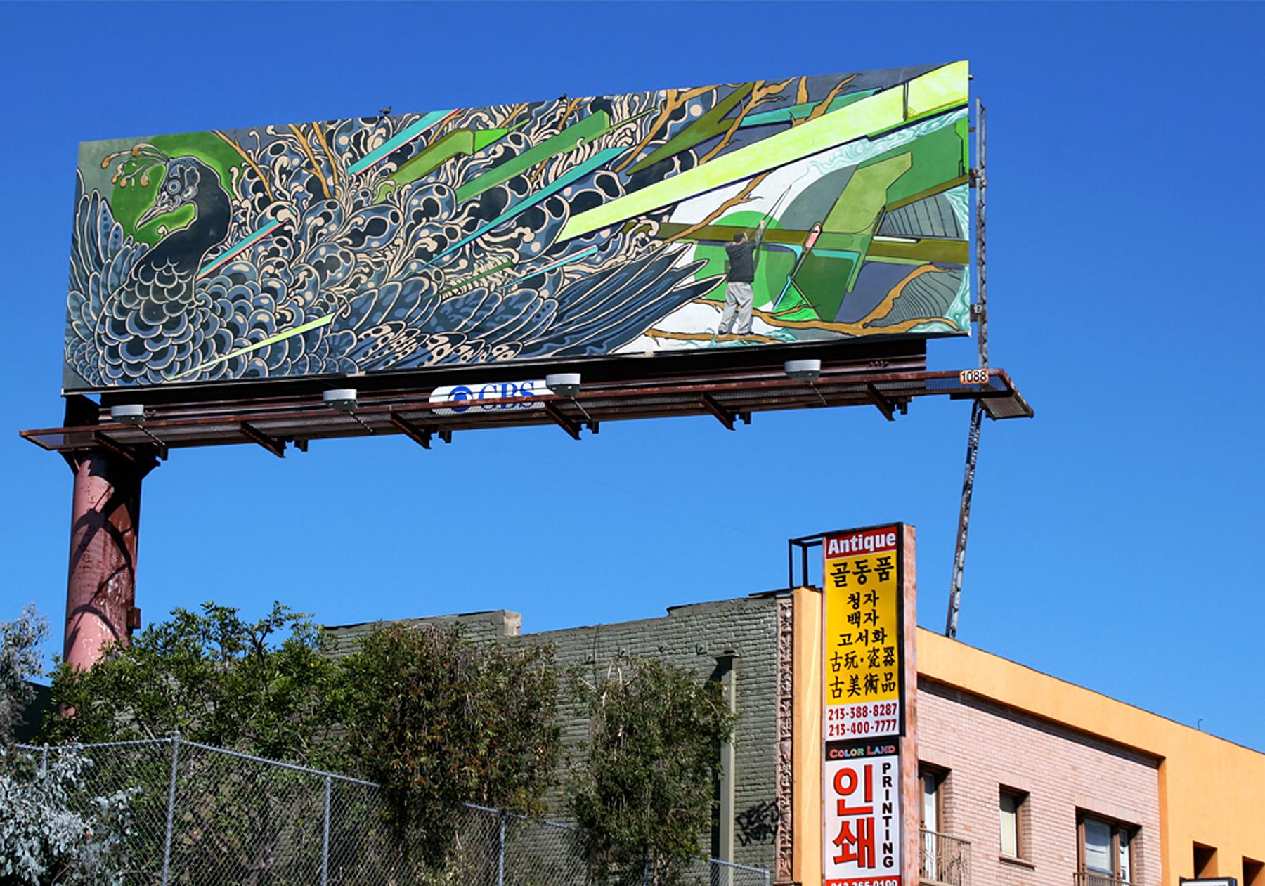 Christopher Brand, Evan Skrederstu, Steve Martinez, Jose Lopez.  #PublicWorks Billboard Project. 2012.