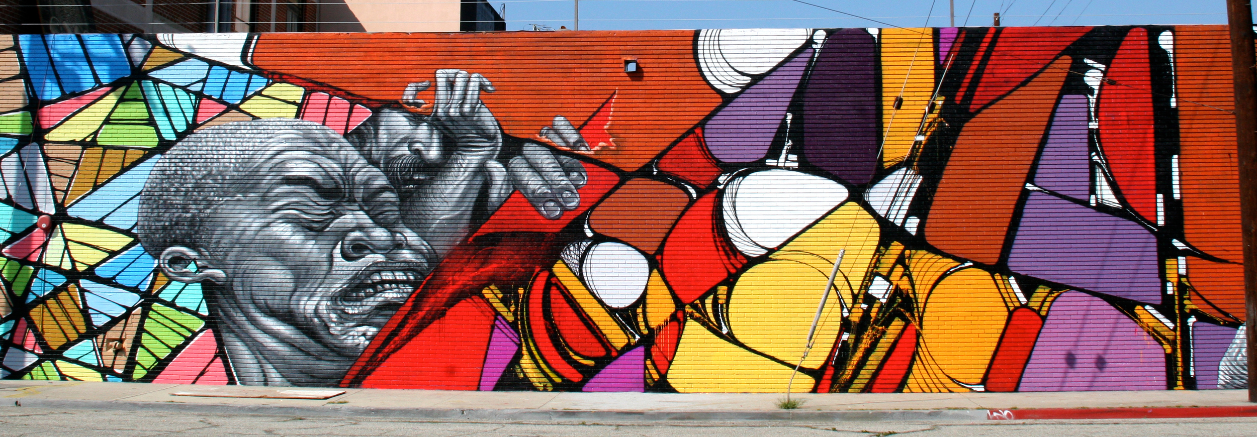 Christopher Brand, Evan Skrederstu, Steve Martinez & Zes.  Push (Abstract Warfare 2)  - LA Freewalls Project. 2011