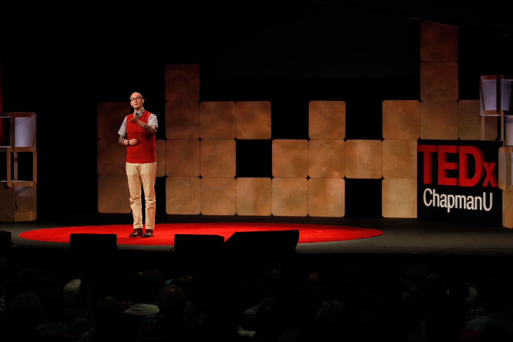 Ryan Gattis on Authenticity & Pain in Storytelling at TEDxChapmanU, 2015.