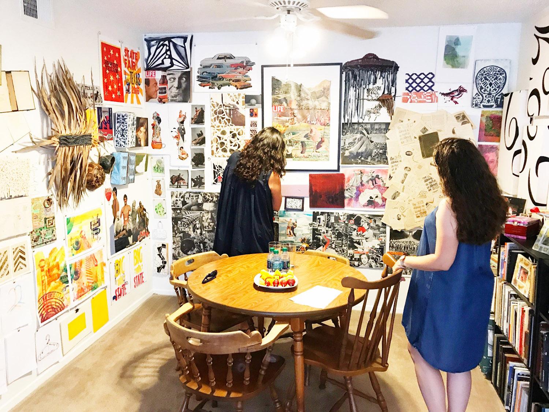 Leslie Moody Castro visiting my apartment studio in 2017.