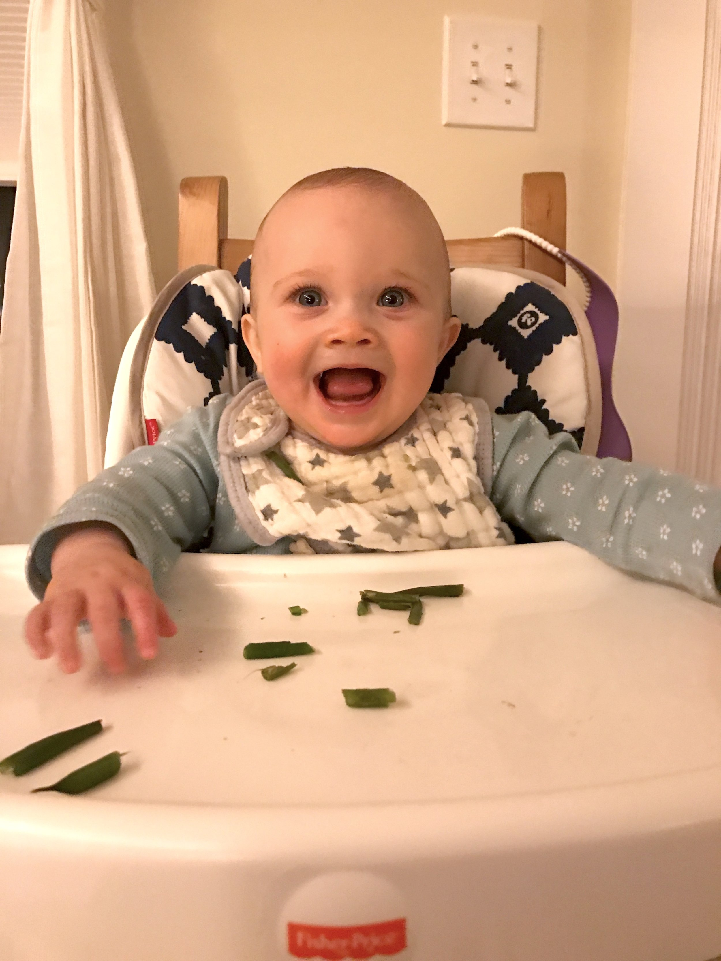 May your child be this happy about green beans.
