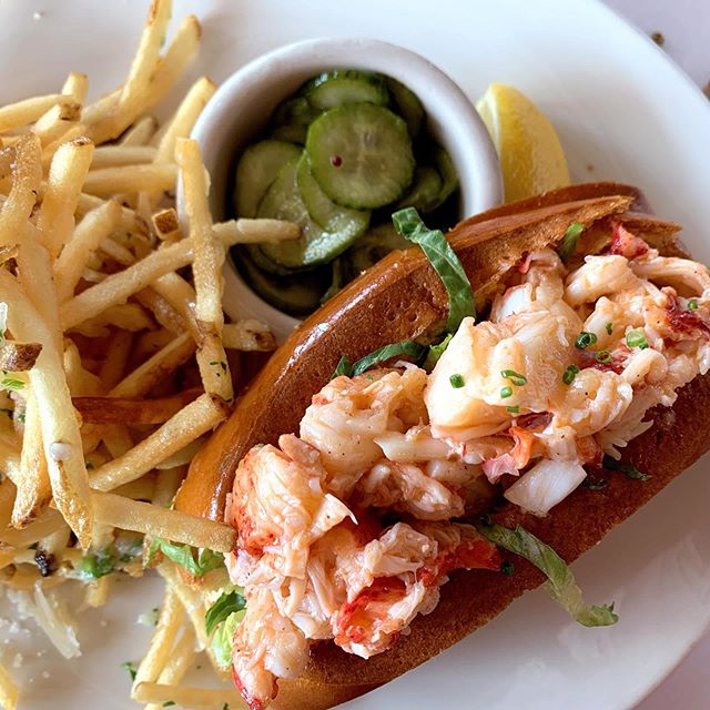 I really veered far from fish 🌮s yesterday.... and got lobster 🦞 roll. 😅 . . Sometimes ya gotta have truffle fries. Riding rollercoasters burns calories right? . . . . . #lobster #lobsterroll #food #california #fishtacos #explore #yum #santamonica #losangeles #food #foodshare #nom