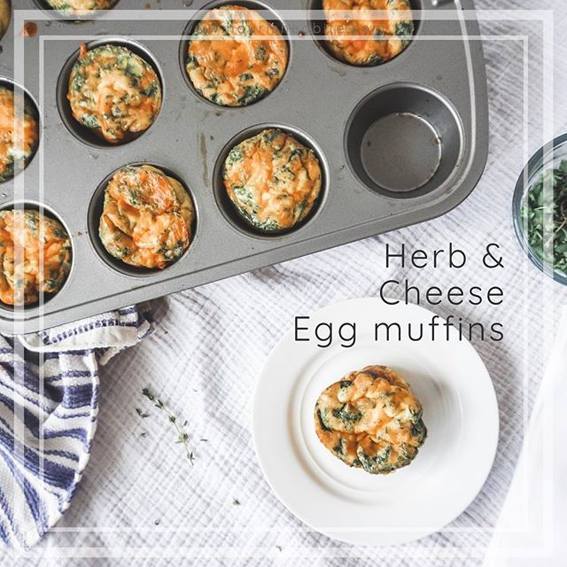 Looking for a quick morning breakfast that fills you or the kids up? I love these herb and cheese baked egg muffins when I don't have time to make eggs in the morning. Check out the recipe at my site. It's also available in my new book on amazon! ♥️ . . . . . #breakfast #eggs #backtoschool #backtoschoolrecipes #kids #parenting #healthyfood #food #yum #recipes #healthyrecipes
