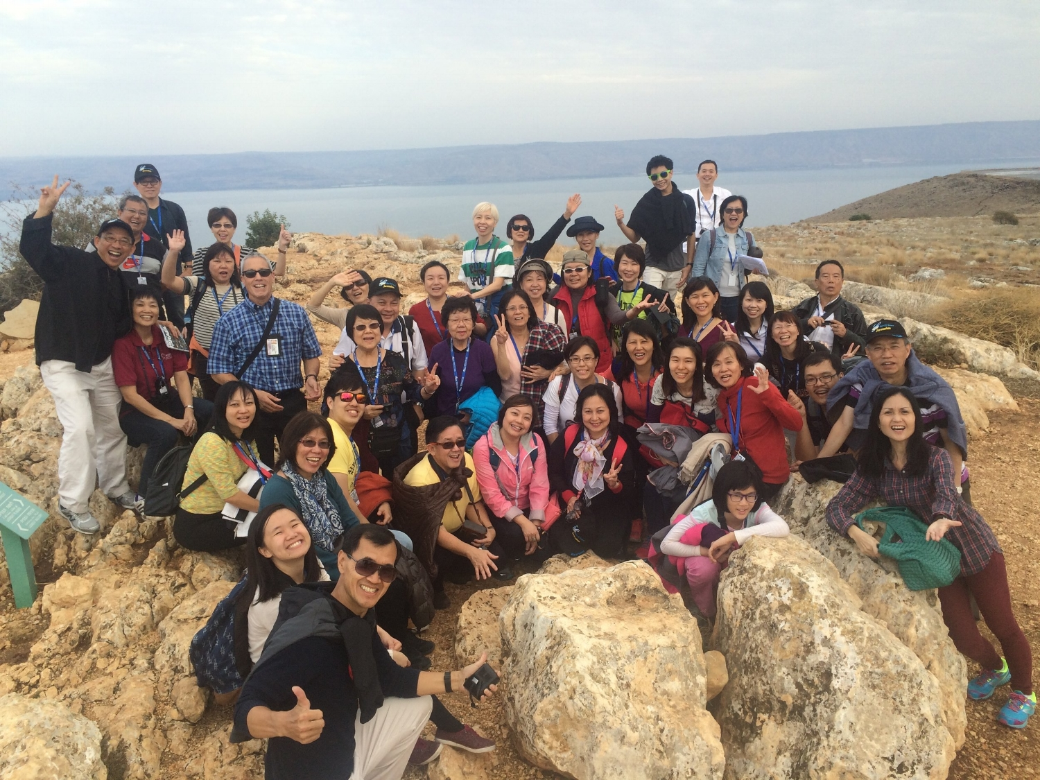 friends from asia - Mount Arbel and Sea of Galilee Region
