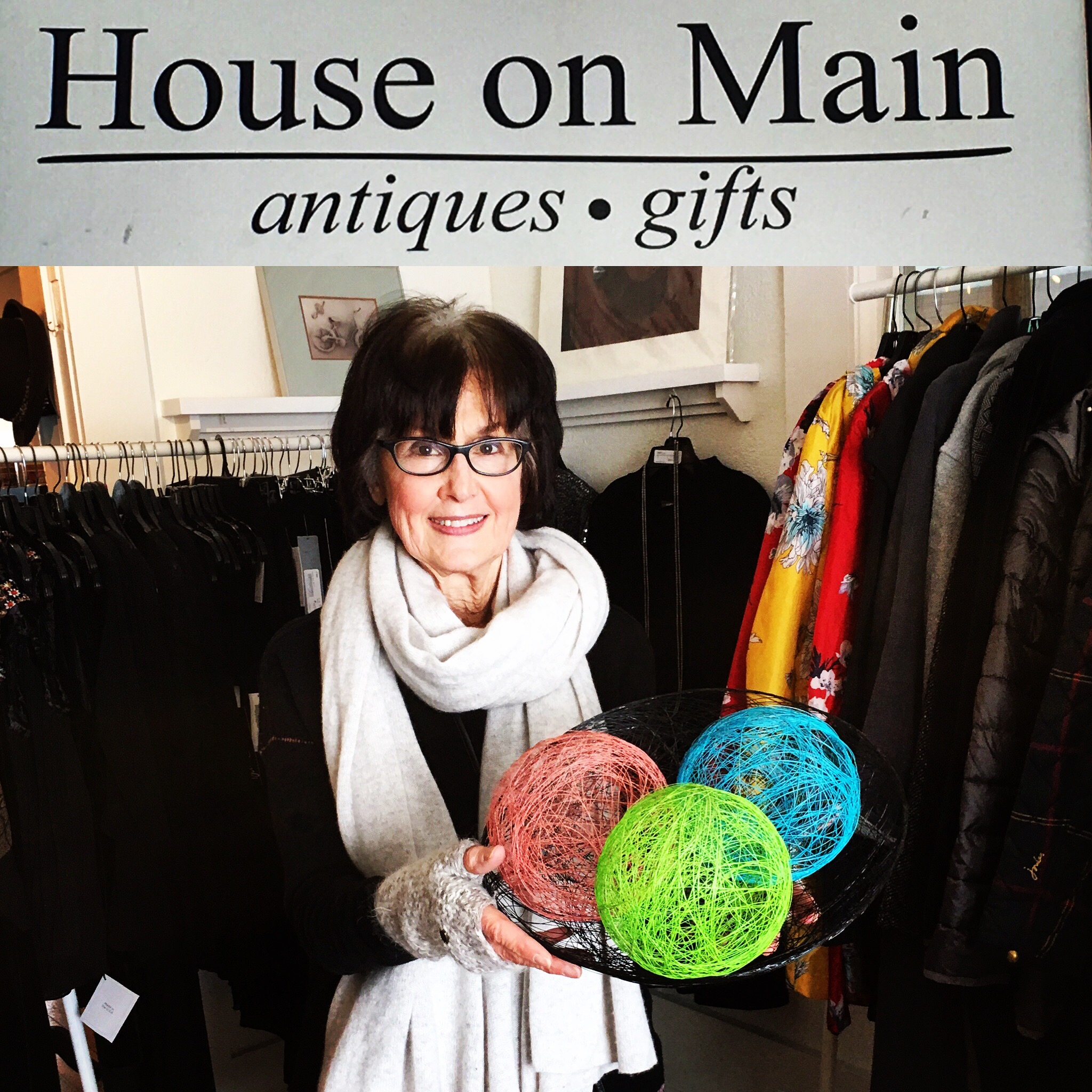 Judy Weiner in her boutique, the House on Main.