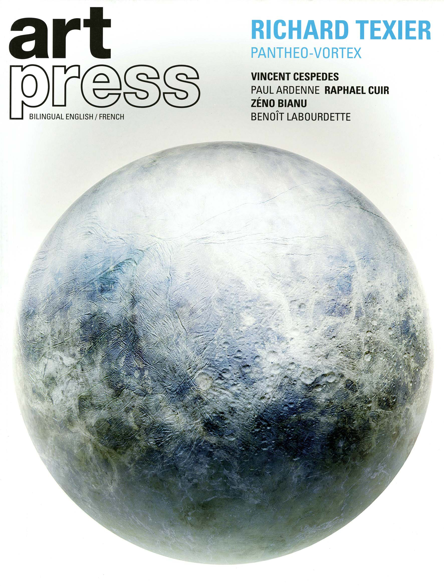 Art Press Cover Richard Texier - Pantheo Vortex and Elastogenese