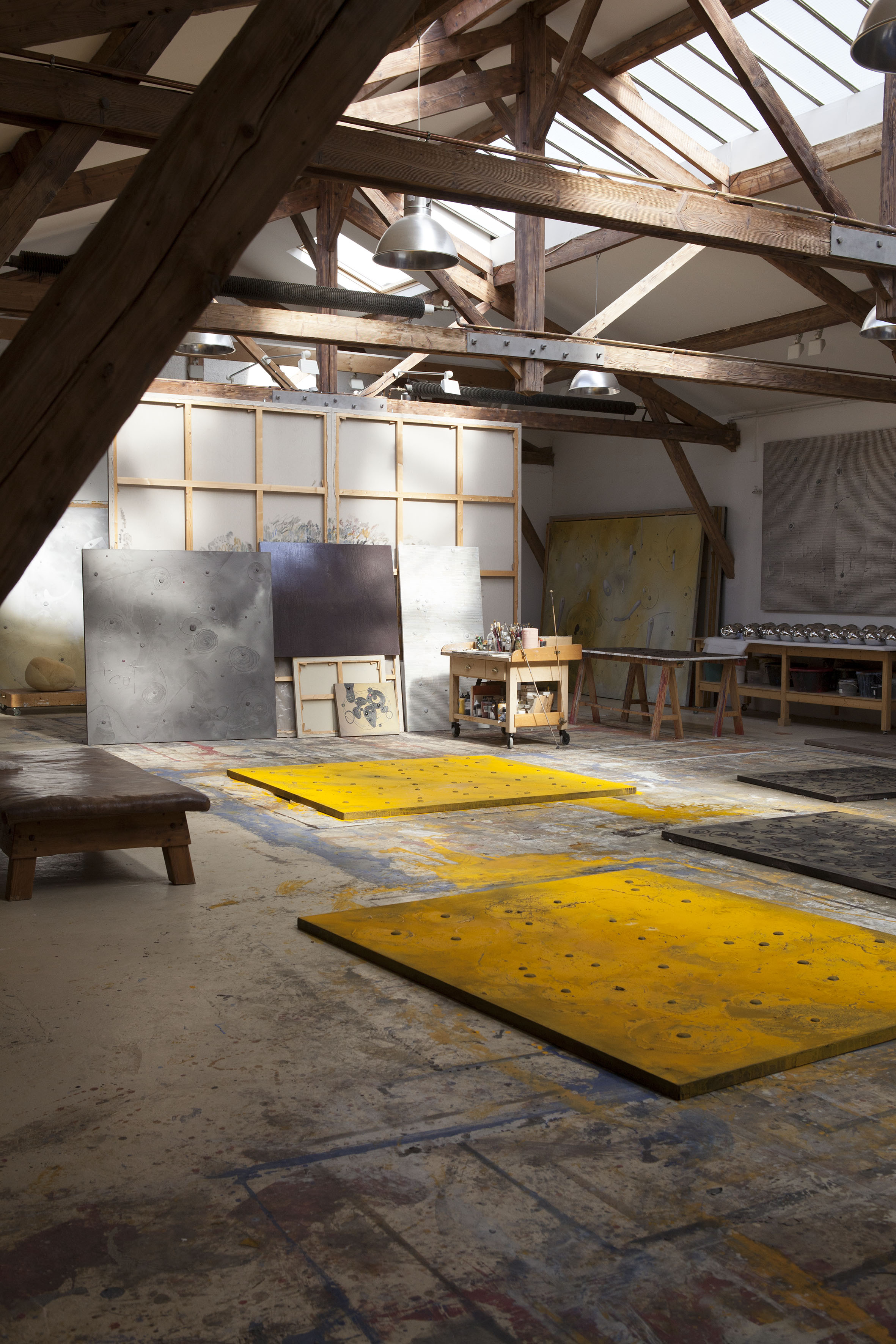Richard Texier Currently working on new series of painting in his Parisian Workshop
