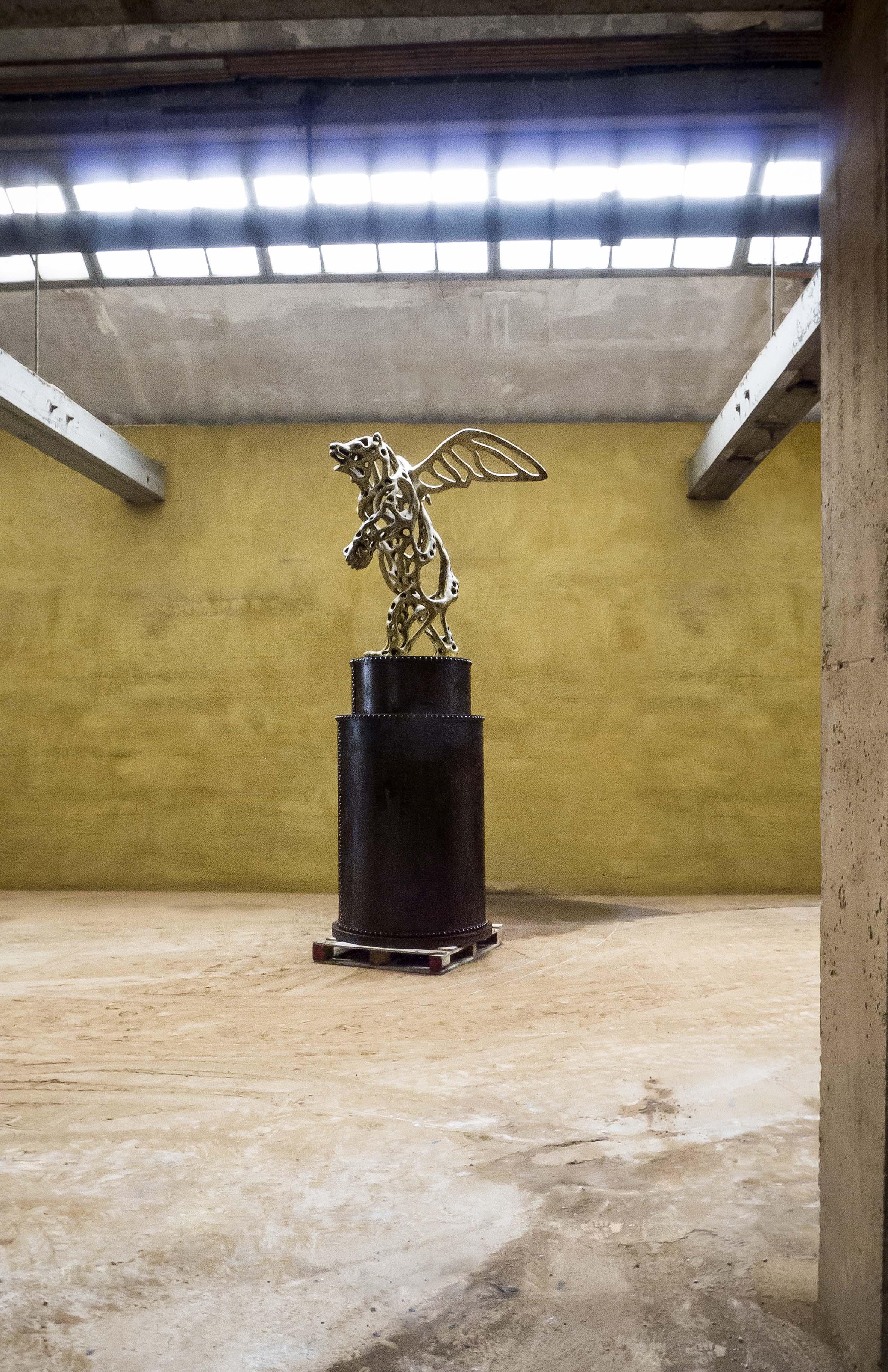 Richard Texier Angel Bear bronze sculpture