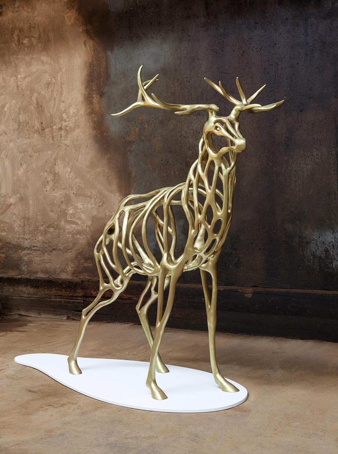 Richard Texier Golden Bronze Deer